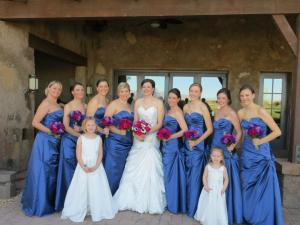 All the bridesmaid's