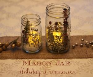 Mason Jar Holiday Luminaries 2